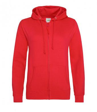 fire red ladies hoodie