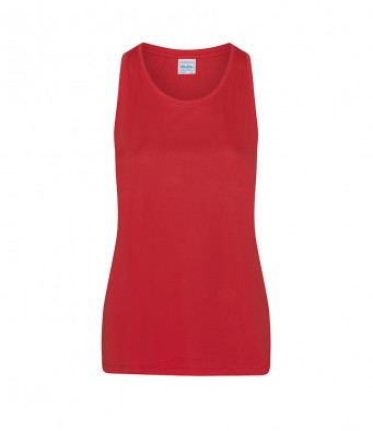 fire red ladies sports vest