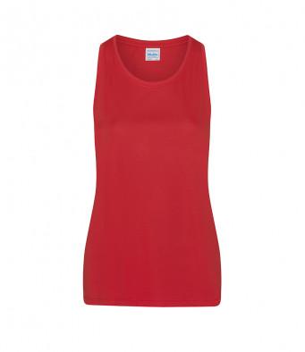 fire red ladies sports vest