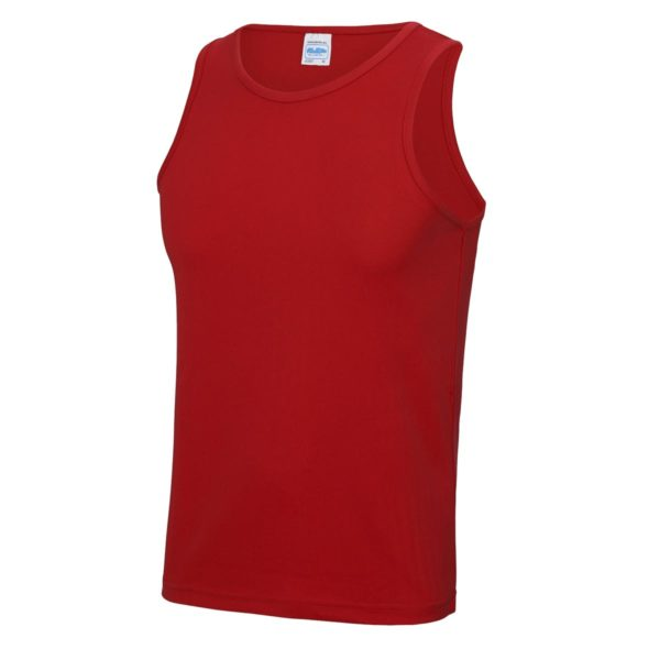 fire red sports vest