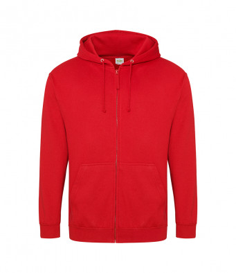 fire red zipped hoodie