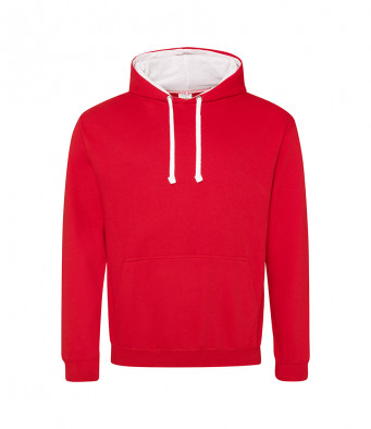 firered arcticwhite contrast hoodies