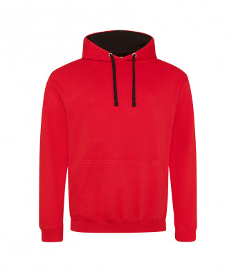 firered jetblack contrast hoodies