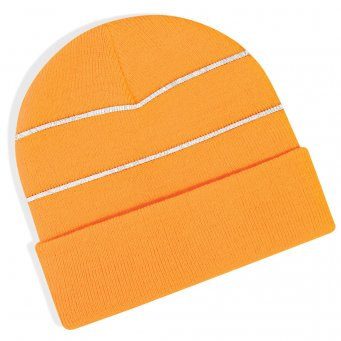 fluo orange hi vis beanie