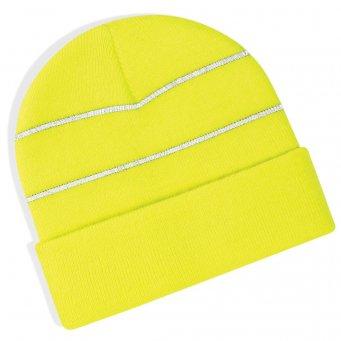 fluo yellow hi vis beanie
