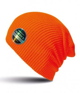 fluorescent orange softex beanie