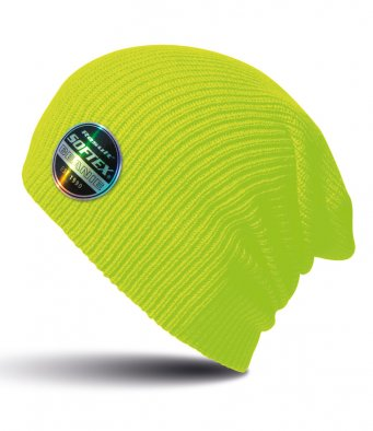 fluorescent yellow softex beanie