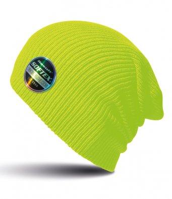 fluorescent yellow softex beanie