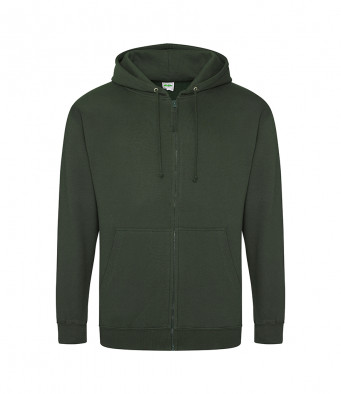 forest green zipped hoodie