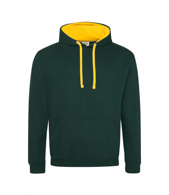 forestgreen gold contrast hoodies