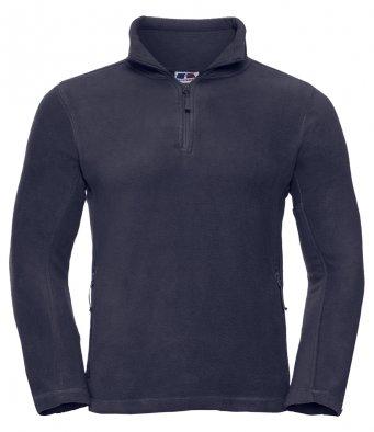 french navy 34 zip fleece jacket