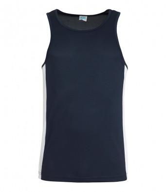 french navy arc white vest