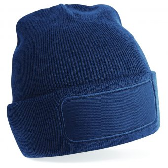 french navy printed beanie
