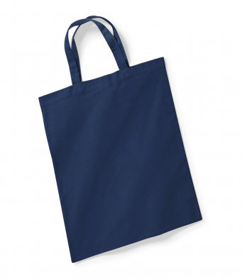 french navy tote bag short handles