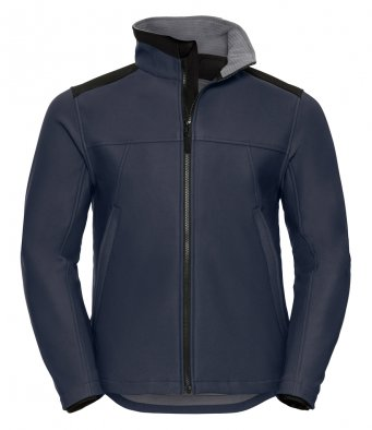 french navy workwear softshell jacket