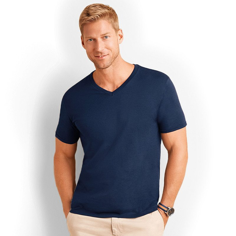gd10 v neck t shirt softstyle