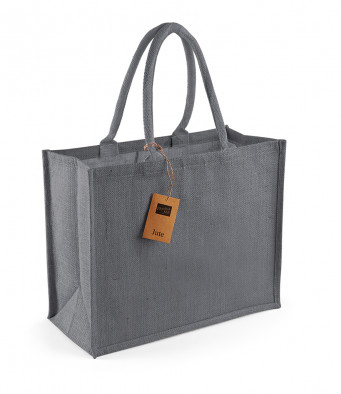 graphite graphite jute shopping bag