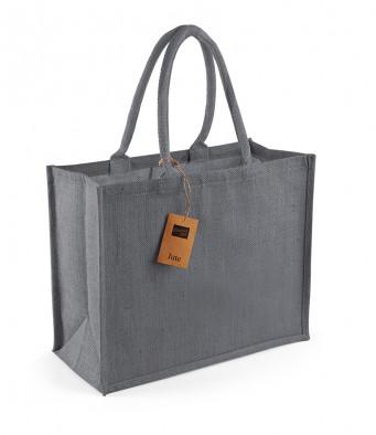 graphite graphite jute shopping bag