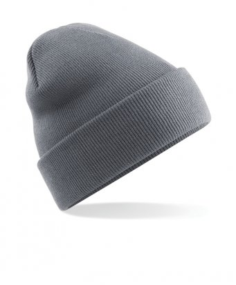 graphite grey cuffed beanie