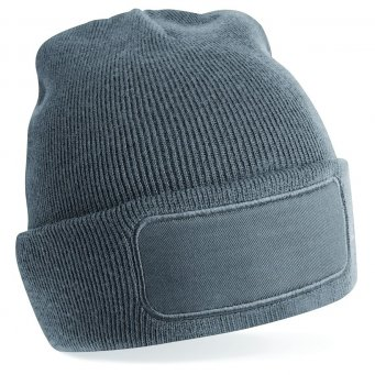 graphite grey printed beanie