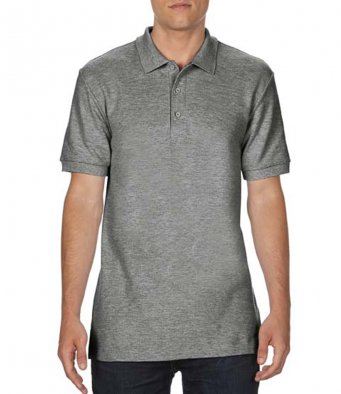 graphite heather premium cotton polo shirt