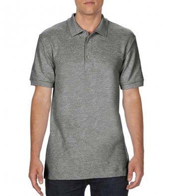 graphite heather premium cotton polo shirt