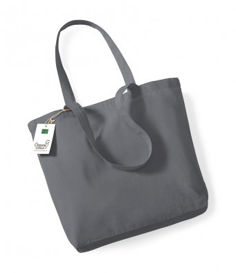 graphite organic cotton shopper tote bag
