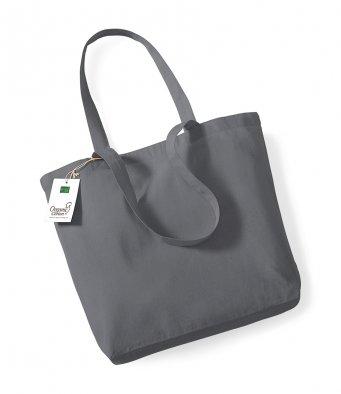 graphite organic cotton shopper tote bag