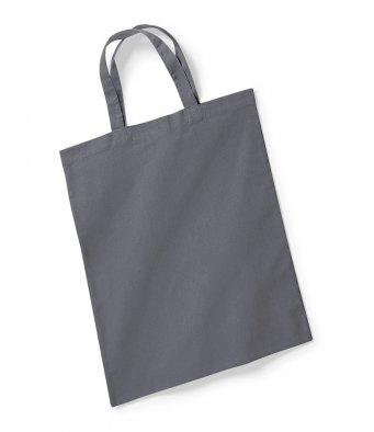 graphite tote bag short handles