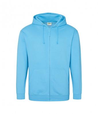 hawaiian blue zipped hoodie