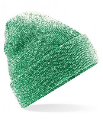 heather green cuffed beanie