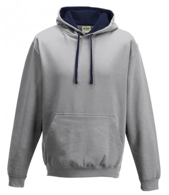 heather grey french navy contrast hoodies