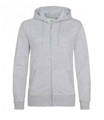 heather grey ladies hoodie