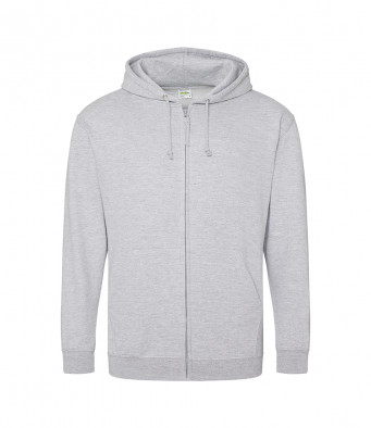 heather grey zipped hoodie