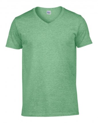 heather irish green v neck t shirt
