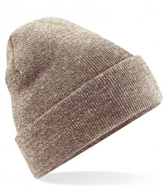 heather oatmeal cuffed beanie