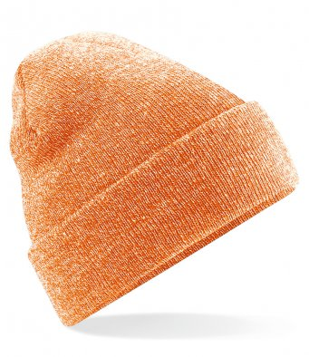 heather orange cuffed beanie