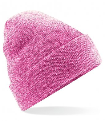 heather pink cuffed beanie