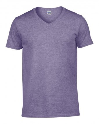 heather purple v neck t shirt