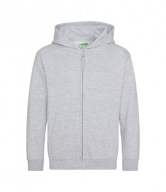 heathergrey childrens zipped hoodie