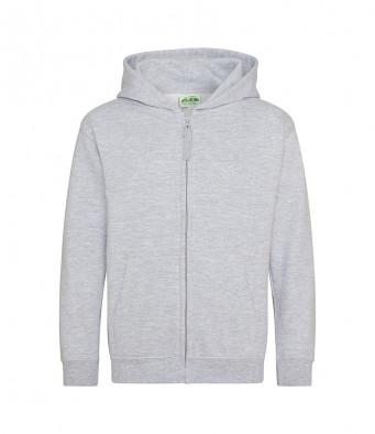 heathergrey childrens zipped hoodie