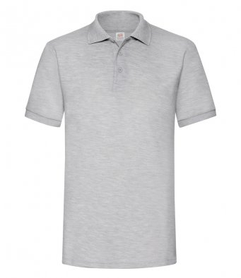 heathergrey heavy duty polo shirt