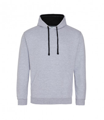 heathergrey jetblack contrast hoodies