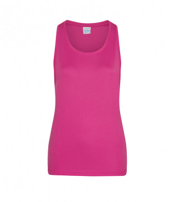 hot pink ladies sports vest