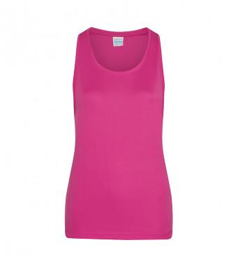 hot pink ladies sports vest