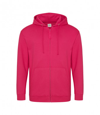 hot pink zipped hoodie