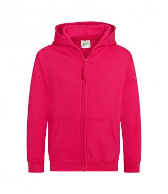 hotpink childrens zipped hoodie