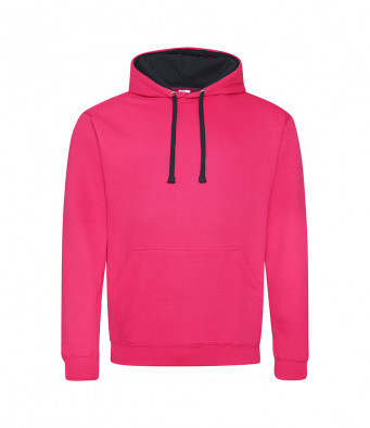 hotpink french navy contrast hoodies