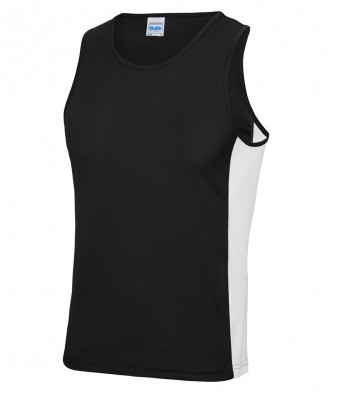 jet black arc white vest