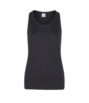 jet black ladies sports vest